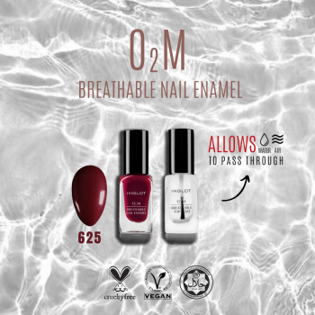 O2M BREATHABLE NAIL ENAMEL 625 + TOP COAT SET icon
