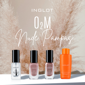INGLOT O2M BREATHABLE NAIL ENAMEL NUDE PAMPAS SET icon